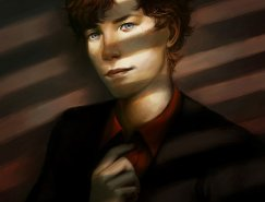 Lisa Brenner精致的人物肖像插画