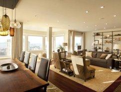 旧金山Jackson街优雅设计的顶层公寓