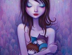 Jeremiah Ketner插画欣赏:唯美梦幻的可爱女