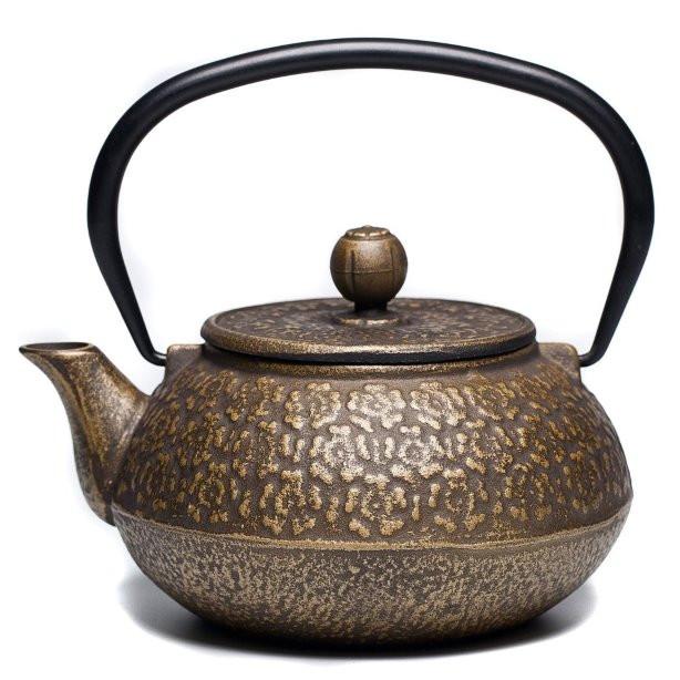 饮茶文化_精美的日本工艺铸铁茶壶 - 设计之家