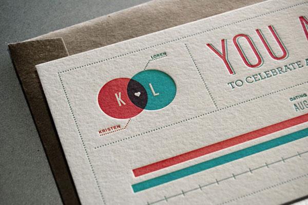 创意 设计/18个国外创意结婚请柬和邀请卡设计