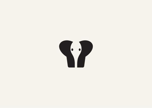 bokhua:有趣的负空间动物图形创意