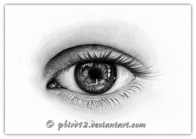 40个漂亮逼真的眼睛特写铅笔画欣赏(2)