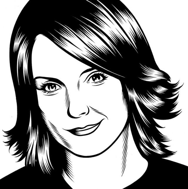 charles burns黑白人物肖像插画(5)