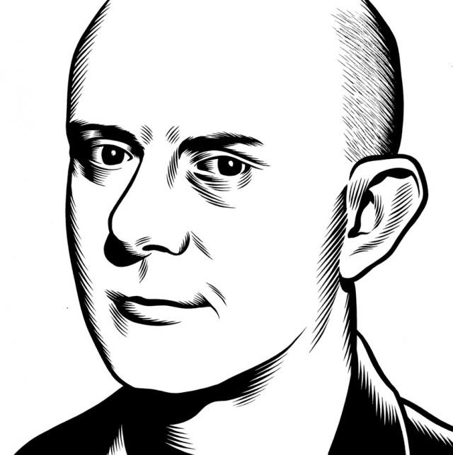 charles burns黑白人物肖像插画(3)