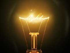 Photoshop在发光的灯泡中加入漂亮的灯丝文字