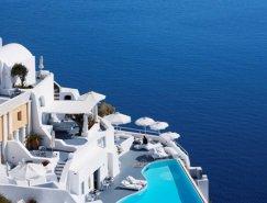 希腊圣托里尼美妙纯白的Kat
