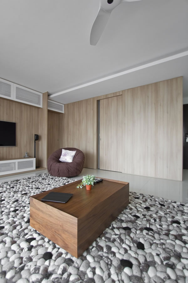 新加坡Bishan Town自然简约的现代公寓设计