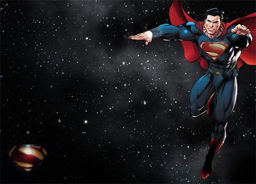 超级英雄人物插画: 超人 钢铁之躯(2)