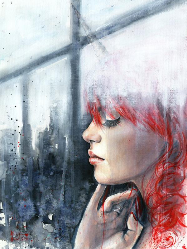 俄罗斯Tanya Shatseva水彩肖像插画欣赏