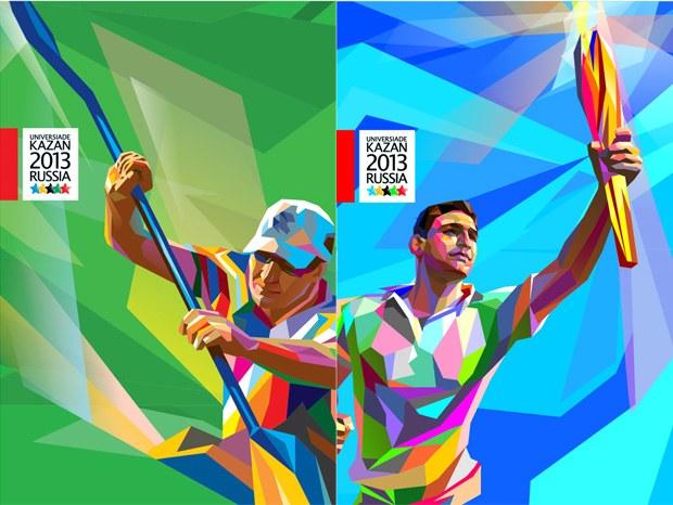 标志 喀山/2013年喀山大运会会徽、吉祥物和志愿者标志...