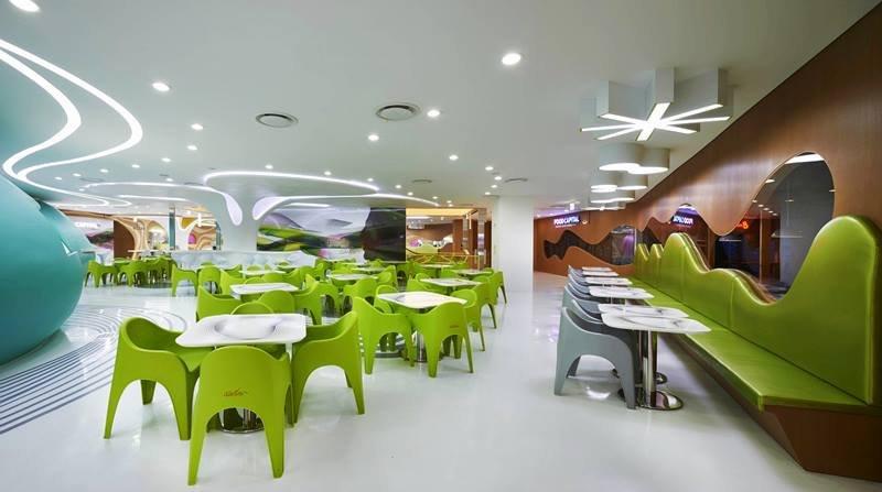 百货空间设计:首尔乐天教程AmojeFoodCapit服务器餐饮备份图片