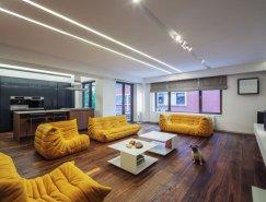 罗马尼亚现代简约的V公寓设计