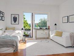瑞典哥德堡26平方米纯白小公寓设计