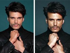 Photoshop给帅哥增加独具魅力的质感肤色