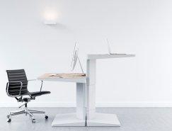 现代办公室时尚简约工作台设计