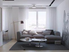Nordes Design:简洁温馨的两居室公寓设计