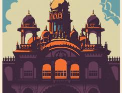 印度古典风格浓郁的旅游海报设计