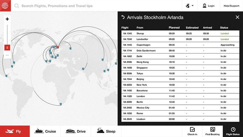 设计机构FI:航空公司概念网页界面设计