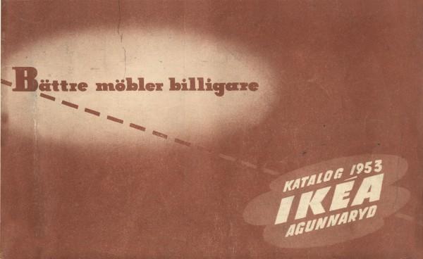 IKEA 1953年产品目录册