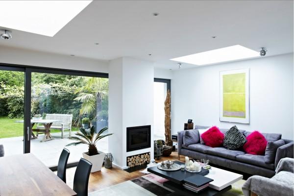 享受自然采光的户外美景:伦敦温馨通透的现代别墅设计