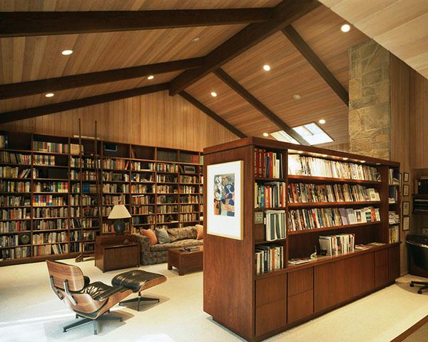 书架效果图1 营造一屋子文化气息 40个家庭图书馆设计