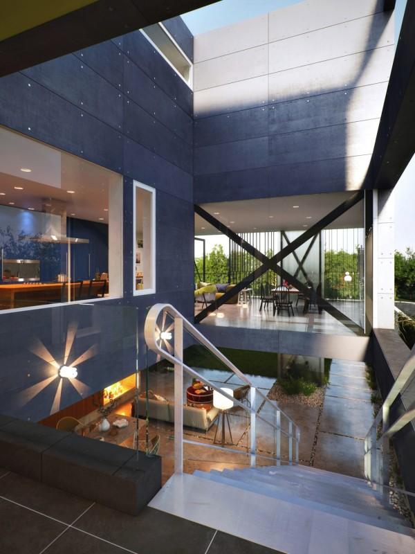 玻璃盒子风格住宅设计欣赏 设计之家