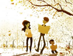 Pascal Campion画笔下的温馨家庭