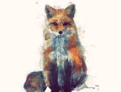 Amy Hamilton动物插画作品