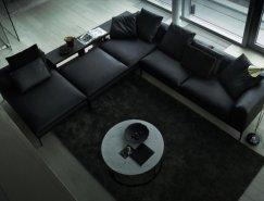 意大利B&B现代沙发设计