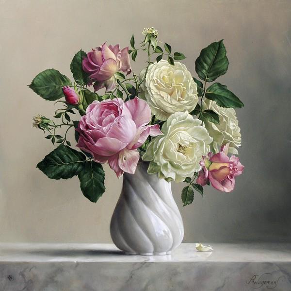 彩铅手绘大师花卉