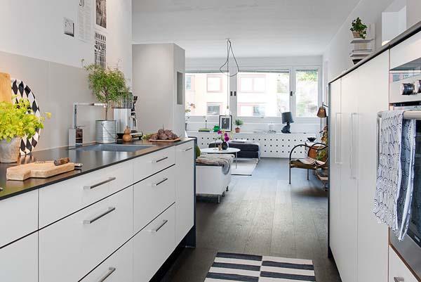 瑞典舒适温馨的简约风格公寓设计