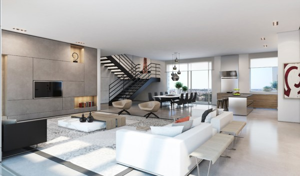 Ando Studio 现代家居和豪华公寓效果图 设计之家
