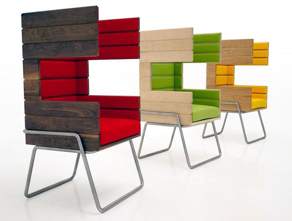 jakob gomez: gi booth创意椅子设计