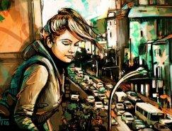 Alice Pasquini街头艺术作品欣赏