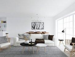 挪威Scandinavian风格极简纯白公寓