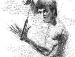 Vince Low明星肖像铅笔画欣赏