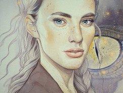 俄罗斯Kimberly80人物肖像插画作