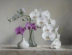 比利时Pieter Wagemans花卉静物油画作品