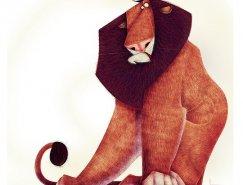 Jean Baptiste Vendamme可爱滑稽的动物插画作品