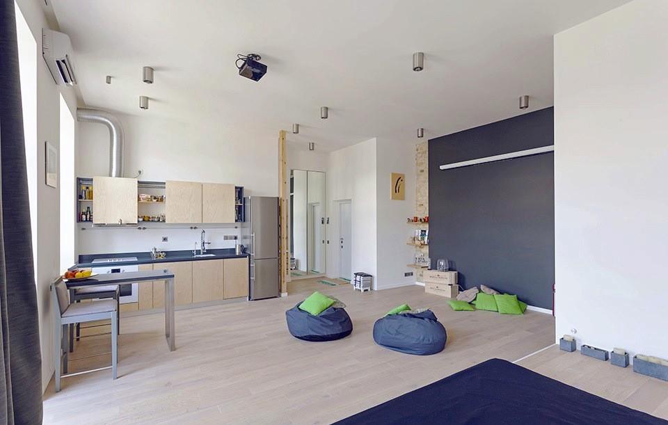 乌克兰58平米开放式布局公寓