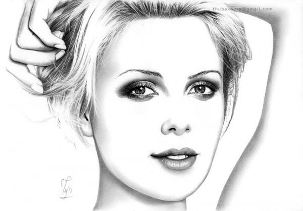 i Anita明星肖像铅笔画欣赏