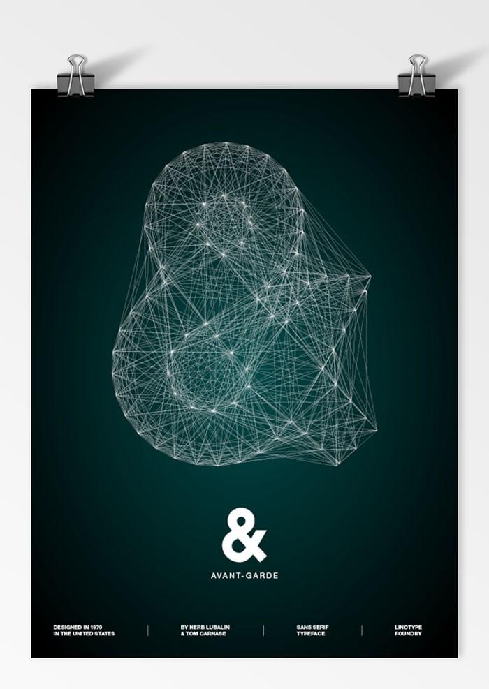 【橙色分享】国外创意字体海报设计图片