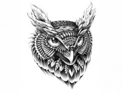 BioWorkZ黑白动物装饰插画