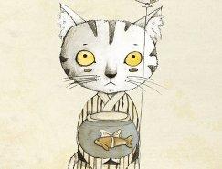 可愛的貓:Judith Loske插畫作品欣賞
