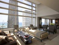 芝加哥奥林匹亚中心豪华复式公寓