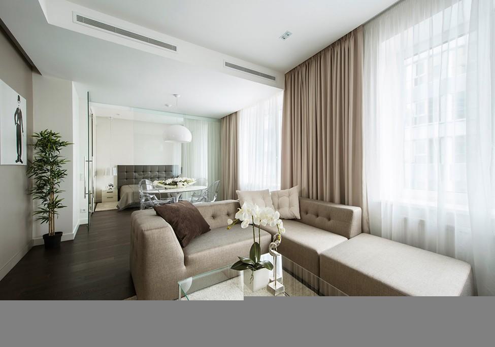 莫斯科简约设计风格的60平米公寓设计