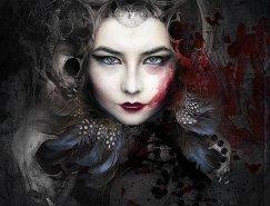 Alexandra Bach肖像插画作品