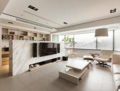 白与黑:2套现代简约公寓设计