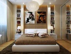 现代时尚的卧室设计欣赏